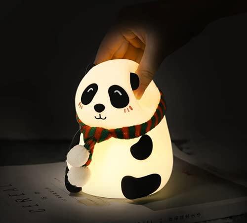 Creative Cartoon Animal Panda Colorido Led Niños Noche Luz USB Lámpara Recargable Decoración Regalo (Squint)