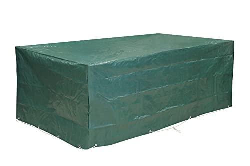 Kronenburg Schutzhülle für Tisch Stühle Sitzgruppen Sitzgarnituren Abdeckhaube, Grün, 240 x 136 x 88 cm - Abdeckung für Gartenmöbel - weitere Schutzhüllen wählbar