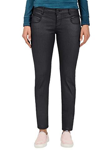 Timezone Damen SadeTZ Slim Jeans, Schwarz (Black Shiny wash 9846), 30W / 30L