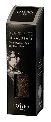 Lotao ROYAL PEARL BLACK Reis (Bio Qualität) der schwarze Reis der Mächtigen | Bio Vollkornreis | Schwarzer Reis für Thai Küche bekannt aus Korea | nachhaltig, vegan & hochwertig | 1x 300g