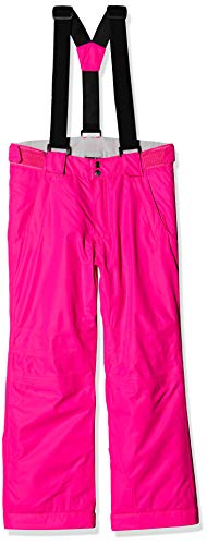 Dare 2b Kinder Motive Pant Waterproof Breathable High Loft Insulated Ski Snowboard Salopette Trousers with Integrated Snow Gaiters and Reflective Detail Lifthose, Cyber Pink, 5-6