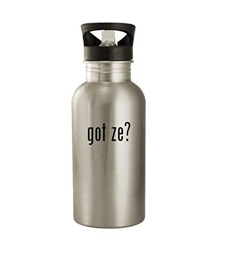 got ze? - 20oz Stainless Steel Water Bottle, Silver