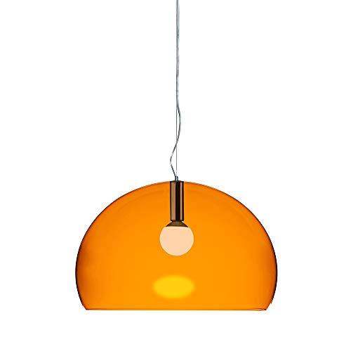 Kartell FL/Y, Suspension Lamp, Orangefarben