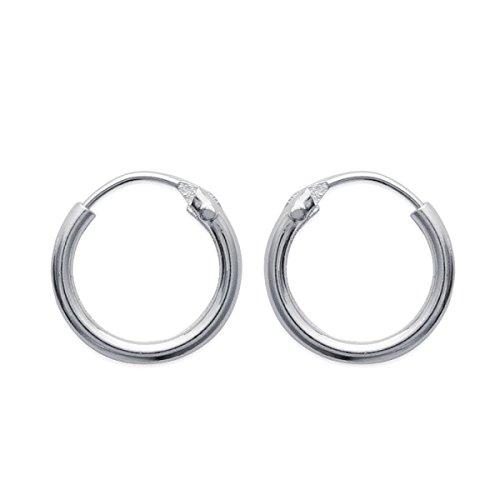 MaryJane - Orecchini da donna a cerchio in argento, diametro: 20 mm, larghezza: 20 mm, in argento 925/1000