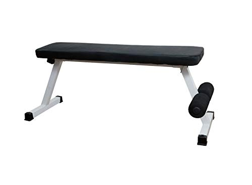 ALLYSON FITNESS Foldable Flat Bench- Up to 500 kg Capacity Tested for Strength Training Multipurpose Fitness Exercise Gym Workout, Heavy Duty Weight Flat Bench for Home & Gym(Black)
