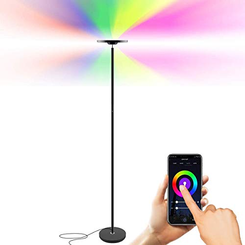WiFi Led Smart Floor Lamp, 25W Multi-Color, Mobile Phone Control, Google Assistant and Amazon Alexa Compatible