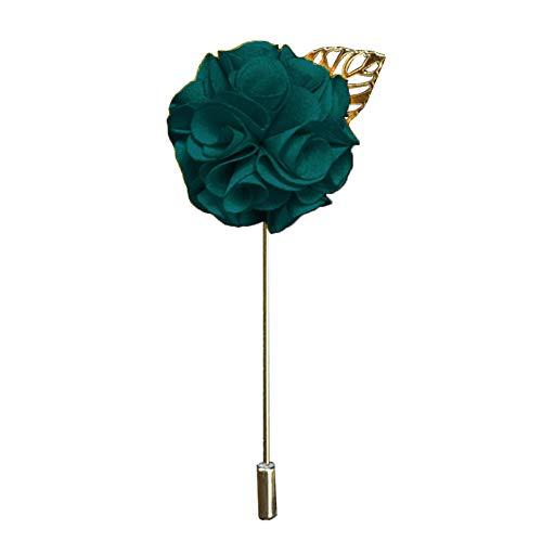 Bodhi200 0 broche vintage con diseño de hojas de flores para traje de esmoquin