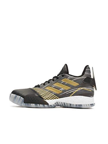 Adidas TMAC Millenium Hombre Basketball Trainers Sneakers (UK 7 US 7.5 EU 40 2/3, Core Black Metallic Gold EE3678)