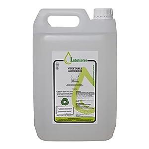 5 litros de GLICERINA VEGETAL EP USP GRADO ALIMENTARIO COSMÉTICO PURA Y NATURAL, incoloro e inodoro