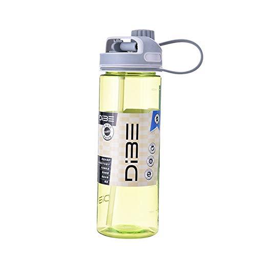 LJ2 Trinkflasche, Tragbarer Trinkhalm Tägliche Wasserflasche Sportwasserkrug Gallone BPA-frei Nicht auslaufendes Design mit Zeitangabe für Reisen im Freien,C