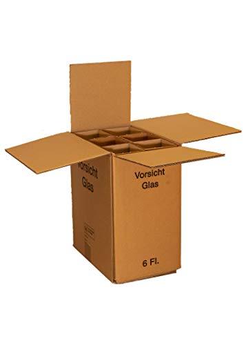Weinkarton Flaschenkarton für 6 Flaschen mit DHL und UPS Zulassung Weinversandkarton