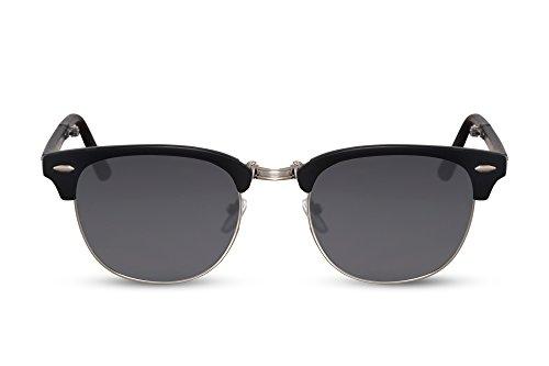 Cheapass Sonnenbrille Schwarz Faltbar Ein-Klappen UV-400 Reisen Plastik Damen Herren