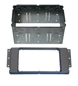 Adaptateur autoradio 2 DIN + Cage pour Land Rover