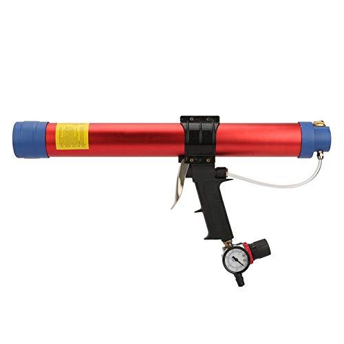 Pistola selladora neumática, herramienta de calafateo neumática arquitectónica Textura dura con plástico y aluminio Buen voltaje de resistencia para decoración arquitectónica