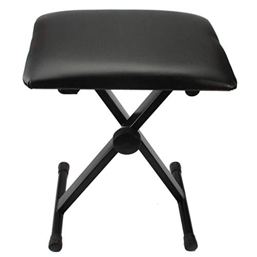 Lowest Price! li qig Adjustable Height Leather Padded Seat Piano Keyboard Chair X Style Cushion Fold...