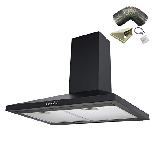 Where To Purchase Sia Ch71bl 70cm Black Chimney Cooker Hood Extractor Fan 1m Ducting Barack Ilhamsaw