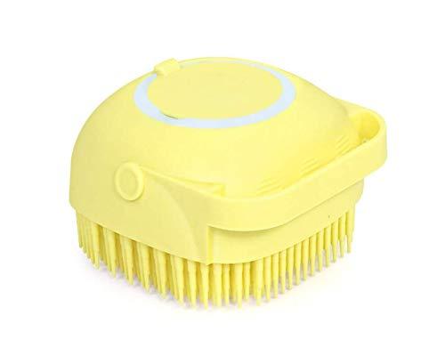 Nifogo Silikon Duschbürste,Haustier Badebürste Super weich Badeflaschenteiler Körperbürste für Hunde und Katzen, Nachfüllbares Duschgel