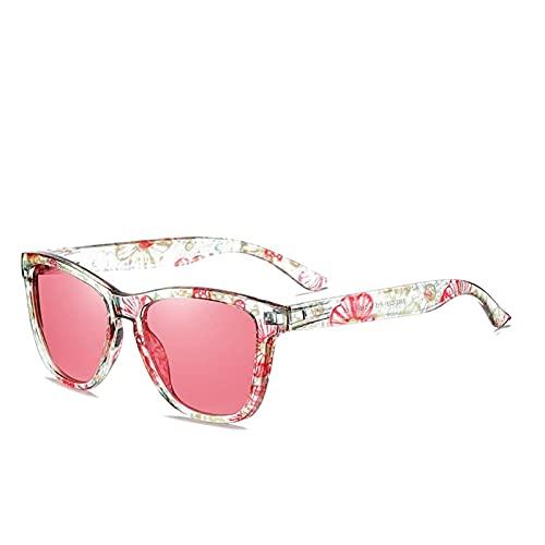 MINGQIMY Gafas de Sol Unisex Moda niño Estilo Gafas de Sol Espejo Gafas de Sol Moda Gafas de Sol polarizadas Mujeres Gafas (Objektiv-Farbe : Pink Q3, Rahmen-Farbe : Polarized)