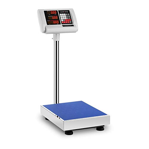 Steinberg Systems Bilancia a piattaforma Pesapacchi Professionale SBS-PF-60/10A (230 V, 4 V, 10 ore, 60 kg, 10 g, Acciaio Inox, Kg, EUR, USD)