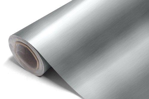 Aluminium brossé Vinyle Autocollant Car wrap - Colour d'Argent 0.3m x1.52m (11.8\