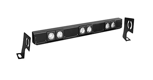 26 Steel Universal Hood Bar with LED SILO-6 Driving Lights Delta Lights 01-9521-SILO Black
