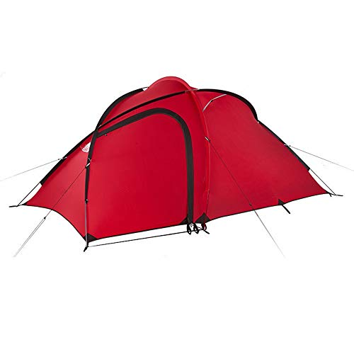 Red One Room One Hall Tent Outdoor 3 Personen Ultralight Familie Camping Bergbeklimmen Regendicht Dubbele Tent Outdoor Uitrusting Zwembed