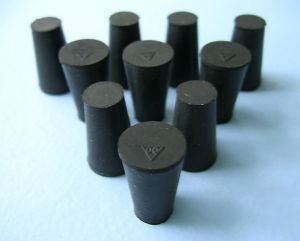 Size OFFer 00 Black Inexpensive Rubber 10 Stoppers Count