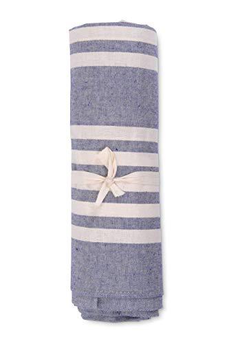 HomeLife – Funda de sofá a rayas – Sábana bajera multiusos de algodón – Granfoulard colcha para cama individual [160 x 280] y matrimonial [260 x 280] – Fabricado en Italia