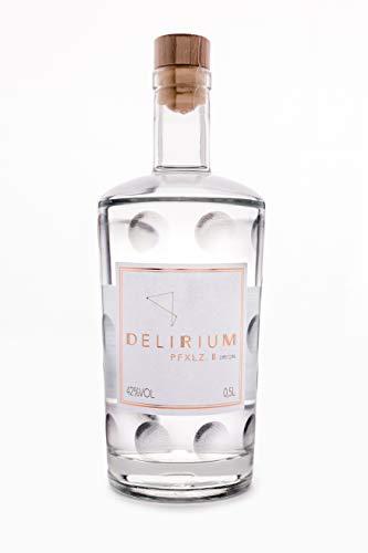 DELIRIUM PFXLZ. II ® Dry Gin (500 ml) - Regionaler Gin aus der Pfalz auf Traubenbasis - Perfektes Gin Geschenk