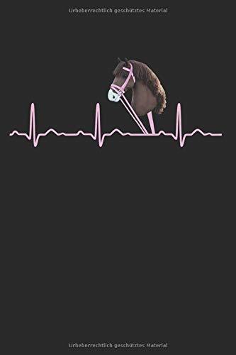 Herzschlag Herzlinie Herzfrequenz Hobby Horse Steckenpferd: Notizbuch DIN A5 - Dotted Punkteraster - 120 Seiten - Geschenk Sportart Hobby Horse Steckenpferd Pferd