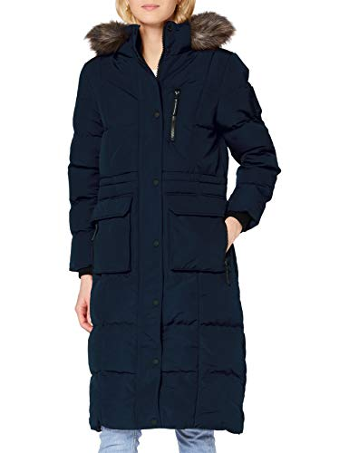 Superdry Womens Longline Everest Faux Fur Coat, Eclipse Navy, M (Herstellergröße:12)