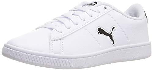PUMA Damen Vikky V2 CAT Sneaker, Weiß Schwarz, 39 EU