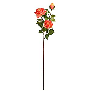 Vickerman 29″ Rose Real Touch Everyday Floral Stem, Coral