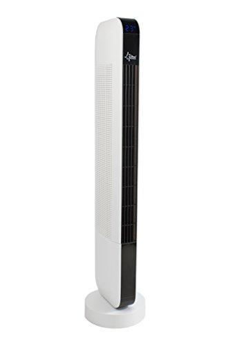 SUNTEC Turmventilator mit Fernbedienung, Timer | Standventilator Schwarz / Weiss | CoolBreeze 9000 TO Slim + Leise 50 Watt | Fan Turm Stand Ventilator 3 Stufen | Windmaschine | Schlafzimmer, Büro