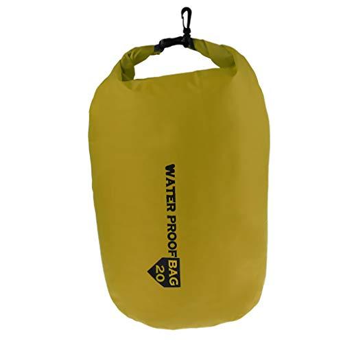 Perfeclan Trockensack Trockenbeutel Wasserdicht Kompressionsbeutel Kajak Packsack Wassersport Beutel für Kleidung, Handys, Kameras - Grün, 20L