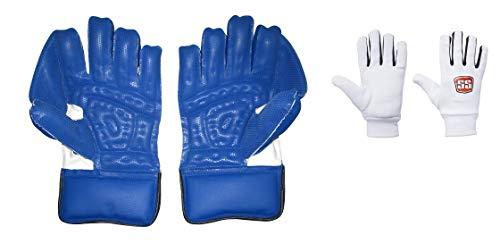 S+S SS Catcher Premium Cricket-Handschuhe, für Herren, inkl. Baumwoll-Innenhandschuhen