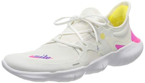 Nike Women's WMNS Free Rn 5.0 JDI Trail Running Shoes, Multicolour (White/Laser Fuchsia/Summit White 100), 3.5 UK