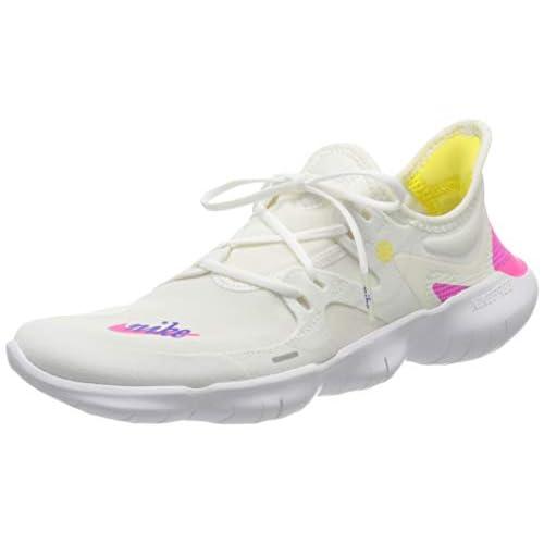 Nike Wmns Free RN 5.0 JDI, Scarpe da Trail Running Donna, Multicolore (White/Laser Fuchsia/Summit White 100), 38 EU