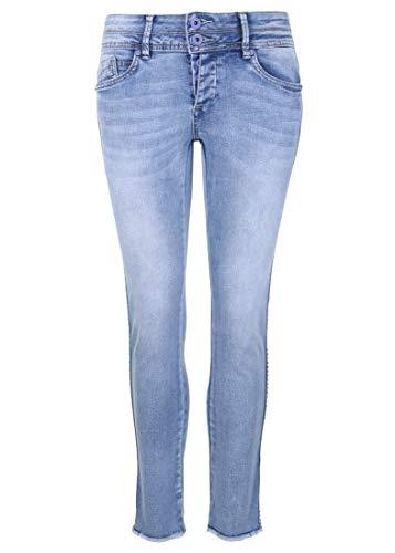 Blue Monkey Damen Jeans Mary 10407 Applikationen