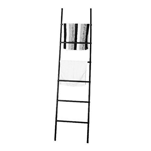GJXJY Toallero Escalera, 6 Barras Soporte Toallas de Pie, Acero Inoxidable Toallero En Estilo Rústico, Escalera de Almacenamiento de Manta Decorativa para Baño, Oficina