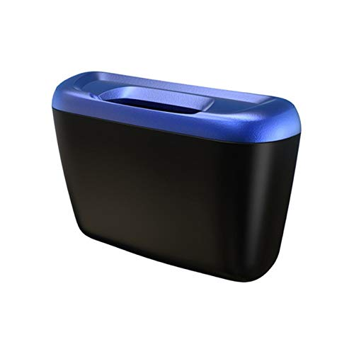 Gorgeous Store Bote De Basura Portátil para Coche, Cubo De Basura para Vehículo A Prueba De Fugas, Bote De Basura, Oficina, Hogar Y Vehículo, Bote De Basura para Automóvil (Color : Blue)