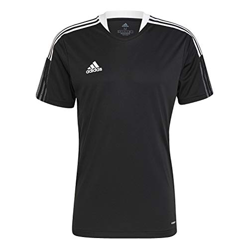 adidas Tiro 21 Training T-Shirt Homme, Noir, L