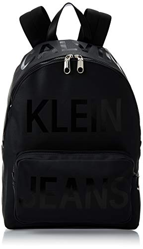 Calvin Klein - Coated Logo Campus Bp 40, Mochilas Hombre, Negro (Ultimate Black), 1x1x1 cm (W x H L)