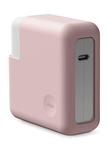 """elago Funda de Silicona para Cargador Adaptador de Corriente Compatible con Apple MacBook Pro 13""""- Más Protección (Lovely Rosa)"""