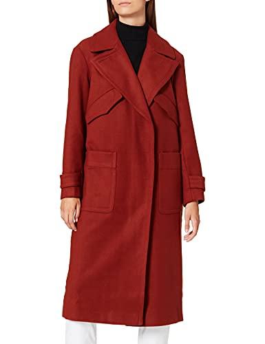 Amazon-Marke: find. Damen Mantel Luxury Trench, Braun (Brown), 38, Label: M