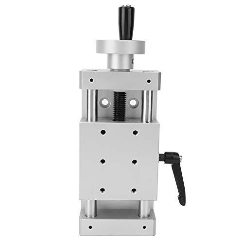 Manueller Linearschlitten,Aluminiumlegierung hoher Genauigkeit Linearschienenbühnenkreuz Linearschienentisch 80 * 80 mm,verbreitet in Produktionsmaschinen,Inspektionsgeräten usw.(50mm)