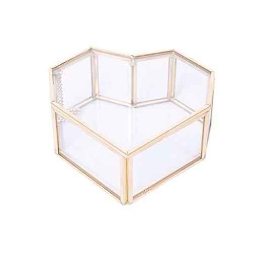 Hong Yi Fei-Shop Caja joyero Caja de Almacenamiento a Prueba de Polvo Retro Europea Caja de Anillo de Flor eterna Creativa Caja de joyería de Boda Organizador Joyas