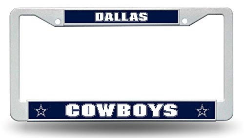 Rico Industries, Inc. Dallas Cowboys LBL Plastic Frame White License Plate Tag Cover Football