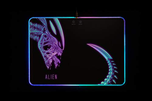 Alien Movie RGB Mousepad with Atmosphere Light Mouse Pad Hard Surface Personalized Design Gamer Gift CST100-160