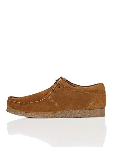 Marca Amazon - find. Zapato de Ante estilo  Hombre, Beige (Tan), 43 EU